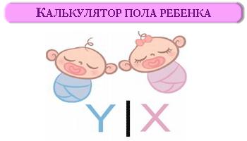Калькулятор пола ребенка