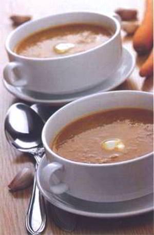 суп зимний с чечевицей и горохом