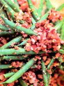 Салат из гороха и зеленой фасоли