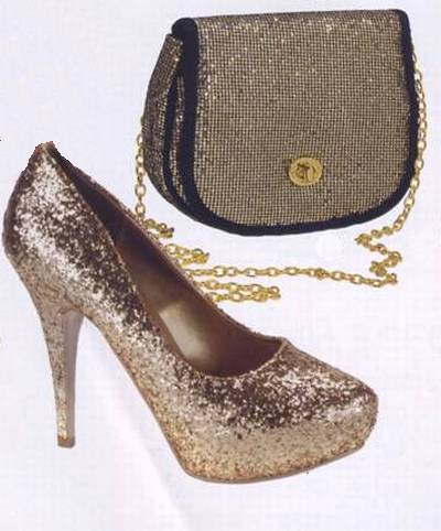 золотые туфли и сумка