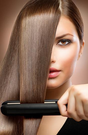 Выпрямление волос методы