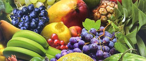 Фрукты по цветам, калорийность